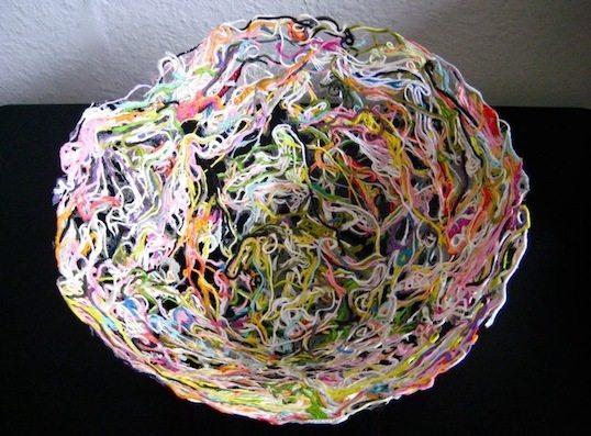 Плетение веревочек нитками