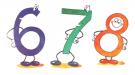 Считалочки — учим цифры от 6 до 10 — цифры для детей
