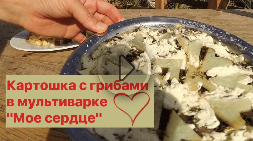 Картошка с грибами в мультиварке «Мое сердце» — для любимых