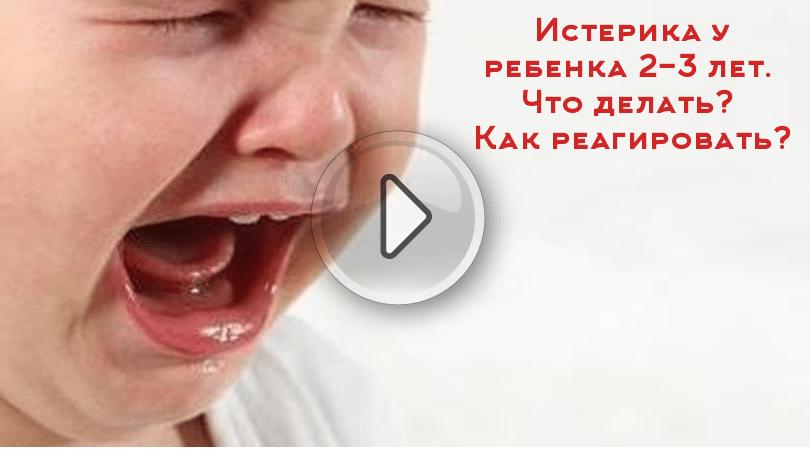 истерика у ребенка 2-3 лет